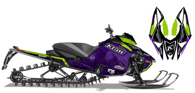 Andy Thomas Arctic Cat Next-Gen-Ascender A Thomas Peaked Sled Wrap Design
