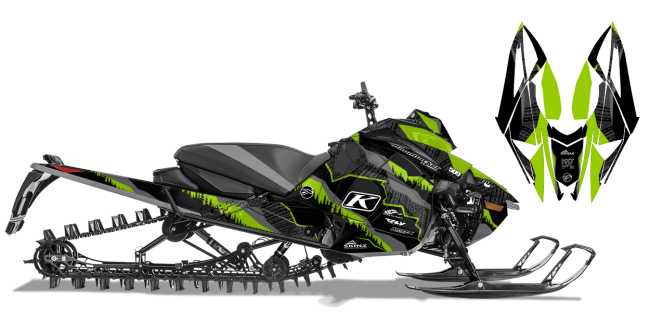 Dan Adams Arctic Cat Next-Gen-Ascender Adams Alpine Sled Wrap Design