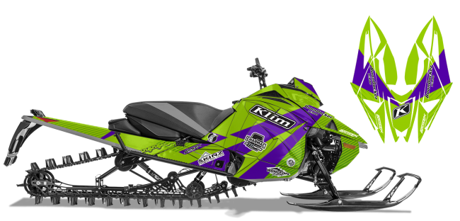 Keith Curtis Arctic Cat Next-Gen-Ascender Curtis Ascent Sled Wrap Design