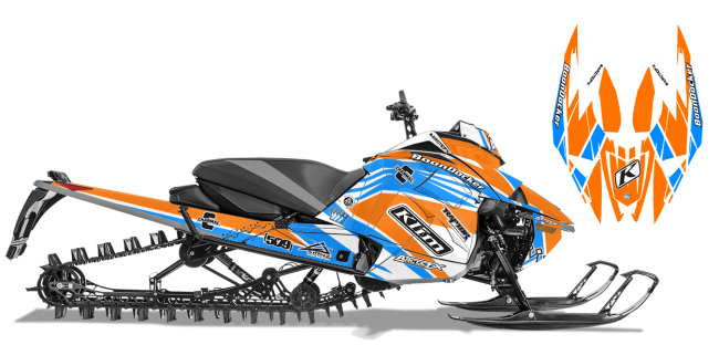Keith Curtis Arctic Cat Next-Gen-Ascender Curtis Mountain King Sled Wrap Design