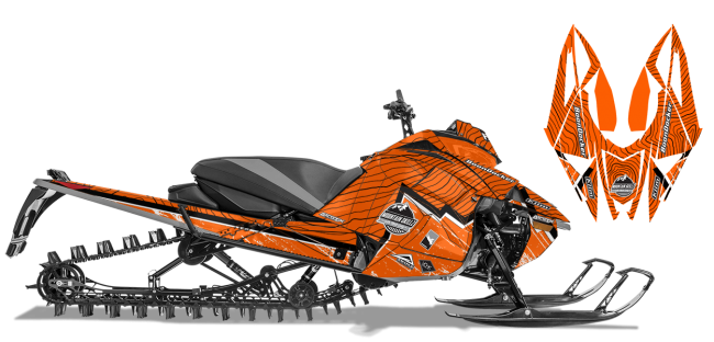 Matt Entz Arctic Cat Next-Gen-Ascender Entz Frontier Sled Wrap Design