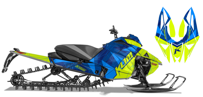 Klim Arctic Cat Next-Gen-Ascender Klim F3 Camo Wrap Design