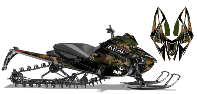 Ross Robinson Arctic Cat next-gen-ascender ross robinson camo Sled Wrap Design