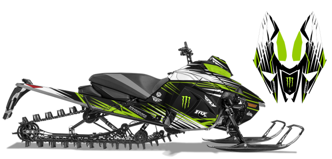 Paul Thacker Arctic Cat next-gen-ascender thacker kryptonite Sled Wrap Design