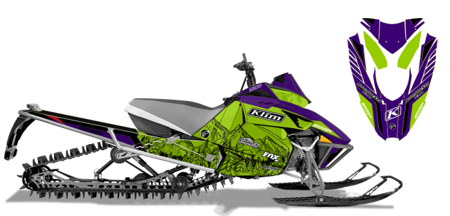 Andy Thomas Arctic Cat Procross-Proclimb A Thomas Peaked Sled Wrap Design