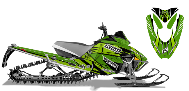 Keith Curtis Arctic Cat Procross-Proclimb Curtis Mountain King Sled Wrap Design