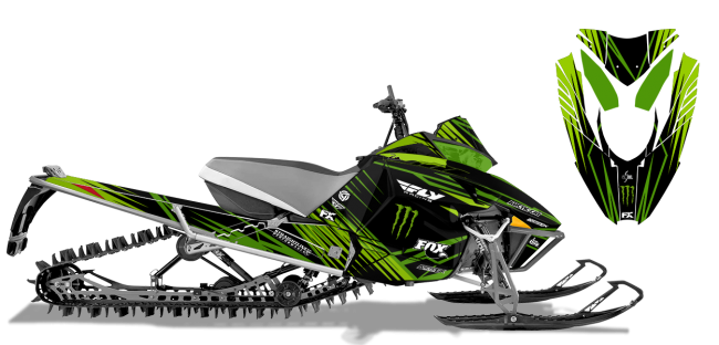 Paul Thacker Arctic Cat procross-proclimb thacker kryptonite Sled Wrap Design