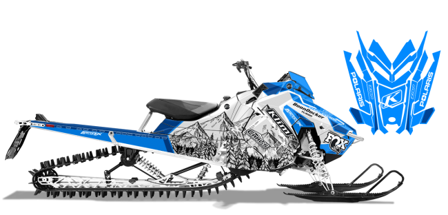 Andy Thomas Polaris AXYS-RMK A Thomas Peaked Sled Wrap Design