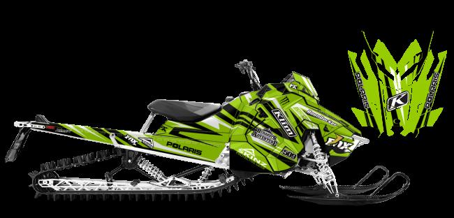 Chris Burandt Polaris AXYS-RMK Burandt Evolution Sled Wrap Design