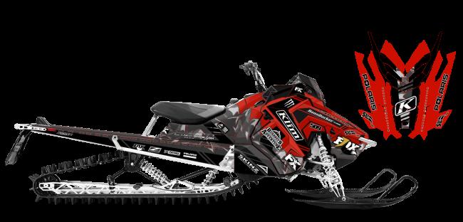 Chris Burandt Polaris AXYS-RMK Burandt Vista Sled Wrap Design