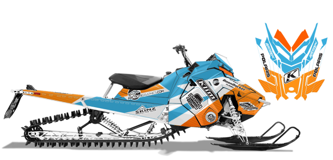 Keith Curtis Polaris AXYS-RMK Curtis Ascent Sled Wrap Design