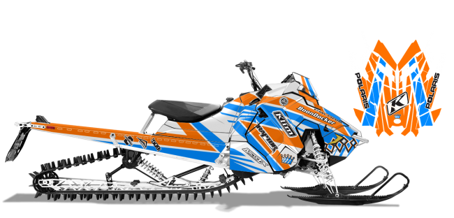 Keith Curtis Polaris AXYS-RMK Curtis Mountain King Sled Wrap Design