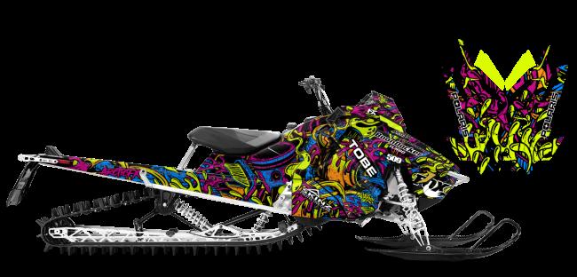 Kim Onasch Polaris AXYS-RMK Kim Onasch Fueled Sled Wrap Design