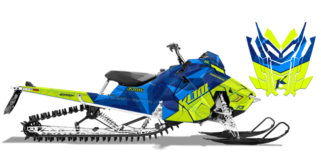 Klim Polaris AXYS-RMK Klim F3 Camo Wrap Design