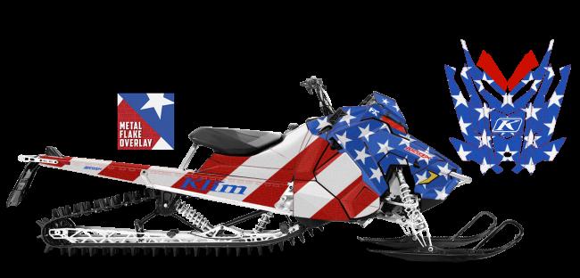 Klim Polaris AXYS-RMK Klim F3 Patriot Wrap Design