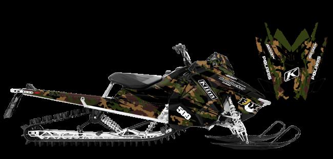 Ross Robinson Polaris AXYS-RMK Ross Robinson Camo Sled Wrap Design
