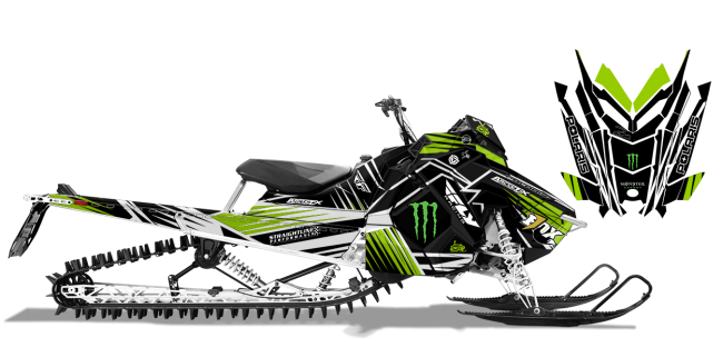 Paul Thacker Polaris axys-rmk thacker kryptonite Sled Wrap Design