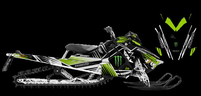 Paul Thacker Polaris AXYS-RMK Thacker Kryptonite Sled Wrap Design