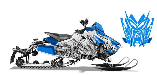 Andy Thomas Polaris AXYS-Rush-Switchback A Thomas Peaked Sled Wrap Design