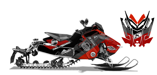 Keith Curtis Polaris AXYS-Rush-Switchback Curtis Ascent Sled Wrap Design