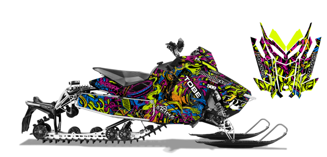 Kim Onasch Polaris AXYS-Rush-Switchback Kim Onasch Fueled Sled Wrap Design