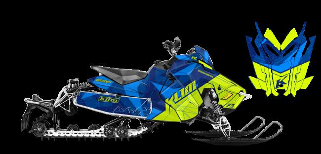Klim Polaris AXYS-Rush-Switchback Klim F3 Camo Wrap Design