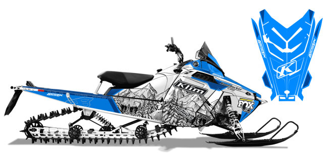 Andy Thomas Polaris ProRide-RMK A Thomas Peaked Sled Wrap Design