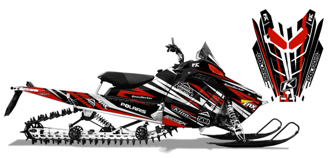 Chris Burandt Polaris ProRide-RMK Burandt Evolution Sled Wrap Design