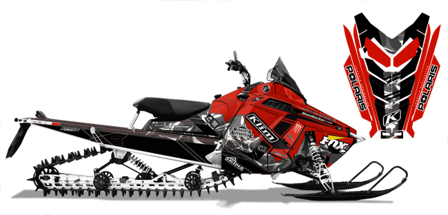 Chris Burandt Polaris ProRide-RMK Burandt Vista Sled Wrap Design