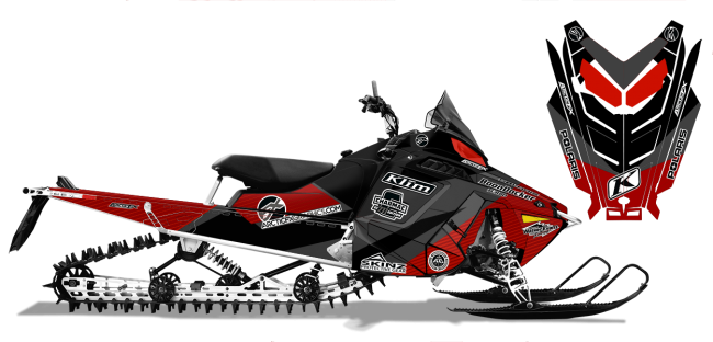 Keith Curtis Polaris ProRide-RMK Curtis Ascent Sled Wrap Design