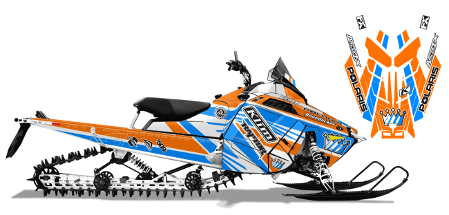 Keith Curtis Polaris ProRide-RMK Curtis Mountain King Sled Wrap Design