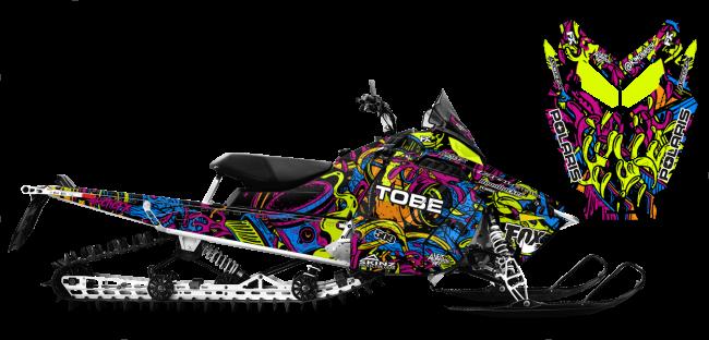 Kim Onasch Polaris ProRide-RMK Kim Onasch Fueled Sled Wrap Design