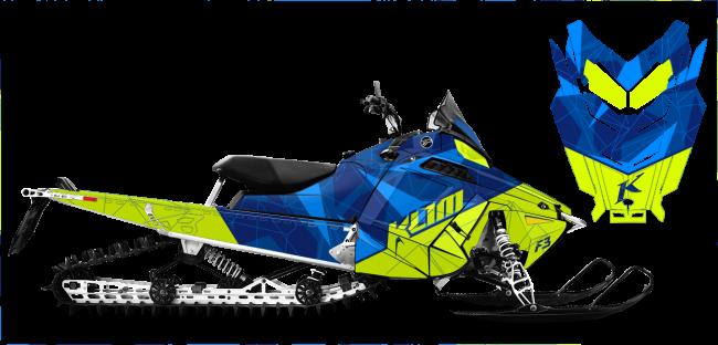 Klim Polaris ProRide-RMK Klim F3 Camo Wrap Design