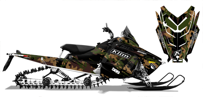 Ross Robinson Polaris ProRide-RMK Ross Robinson Camo Sled Wrap Design