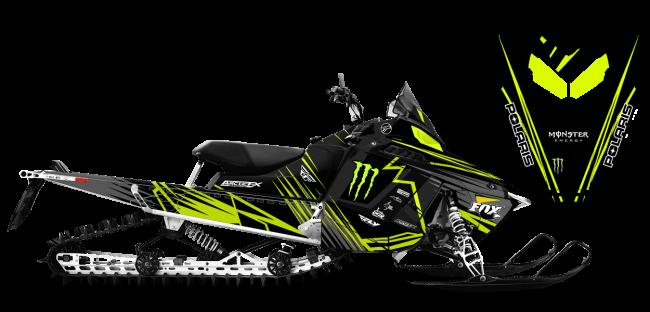 Paul Thacker Polaris ProRide-RMK Thacker Kryptonite Sled Wrap Design