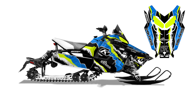 Dan Adams Polaris ProRide-Rush-Switchback Adams Alpine Sled Wrap Design