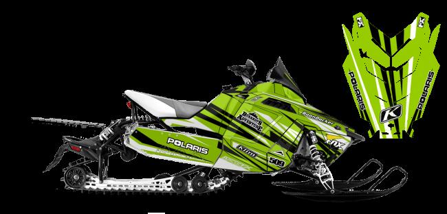Chris Burandt Polaris ProRide-Rush-Switchback Burandt Evolution Sled Wrap Design