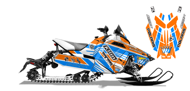 Keith Curtis Polaris ProRide-Rush-Switchback Curtis Mountain King Sled Wrap Design