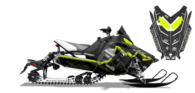 Matt Entz Polaris ProRide-Rush-Switchback Entz Frontier Sled Wrap Design