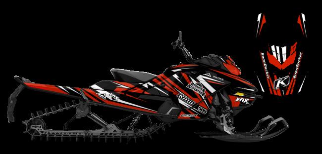 Chris Burandt Skidoo Rev-Gen4 Burandt Evolution Sled Wrap Design