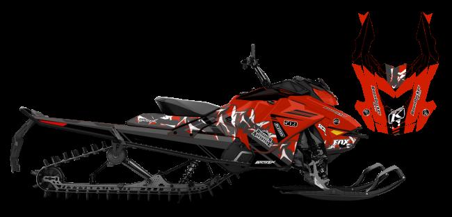 Chris Burandt Skidoo Rev-Gen4 Burandt Vista Sled Wrap Design