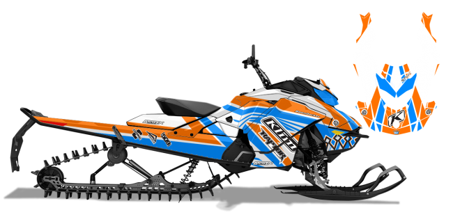 Keith Curtis Skidoo Rev-Gen4 Curtis Mountain King Sled Wrap Design