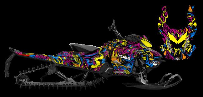 Kim Onasch Skidoo Rev-Gen4 Kim Onasch Fueled Sled Wrap Design