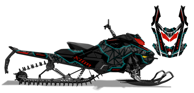 Klim Skidoo Rev-Gen4 Klim Demolish Wrap Design