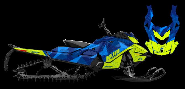 Klim Skidoo REV-GEN4 Klim F3 Camo Wrap Design