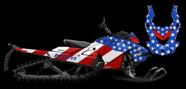 Klim Skidoo Rev-Gen4 Klim F3 Patriot Wrap Design