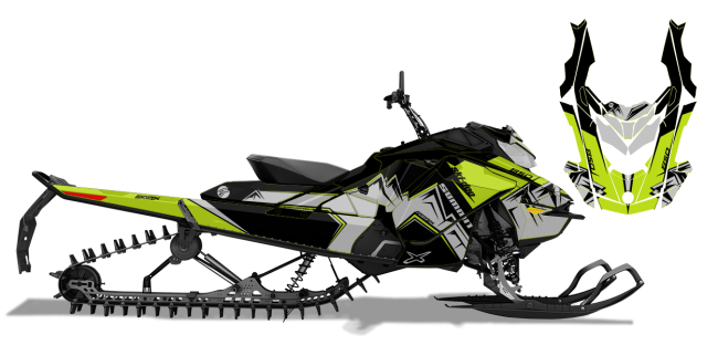 Ski-Doo Summit Renegade 850 Decal Graphic Kit Sled Gen 4 Snowmobile Wrap HAVOC S