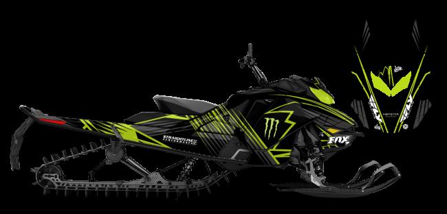 Paul Thacker Skidoo Rev-Gen4 Thacker Kryptonite Sled Wrap Design