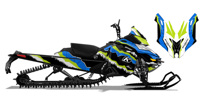 Dan Adams Skidoo Rev-XM Adams Alpine Sled Wrap Design