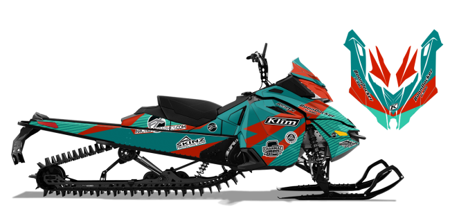 Keith Curtis Skidoo Rev-XM Curtis Ascent Sled Wrap Design